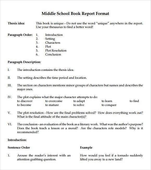 Image result for book report format