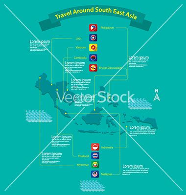 Asean nations infographic vector 3356236 - by Fatichah on VectorStock®