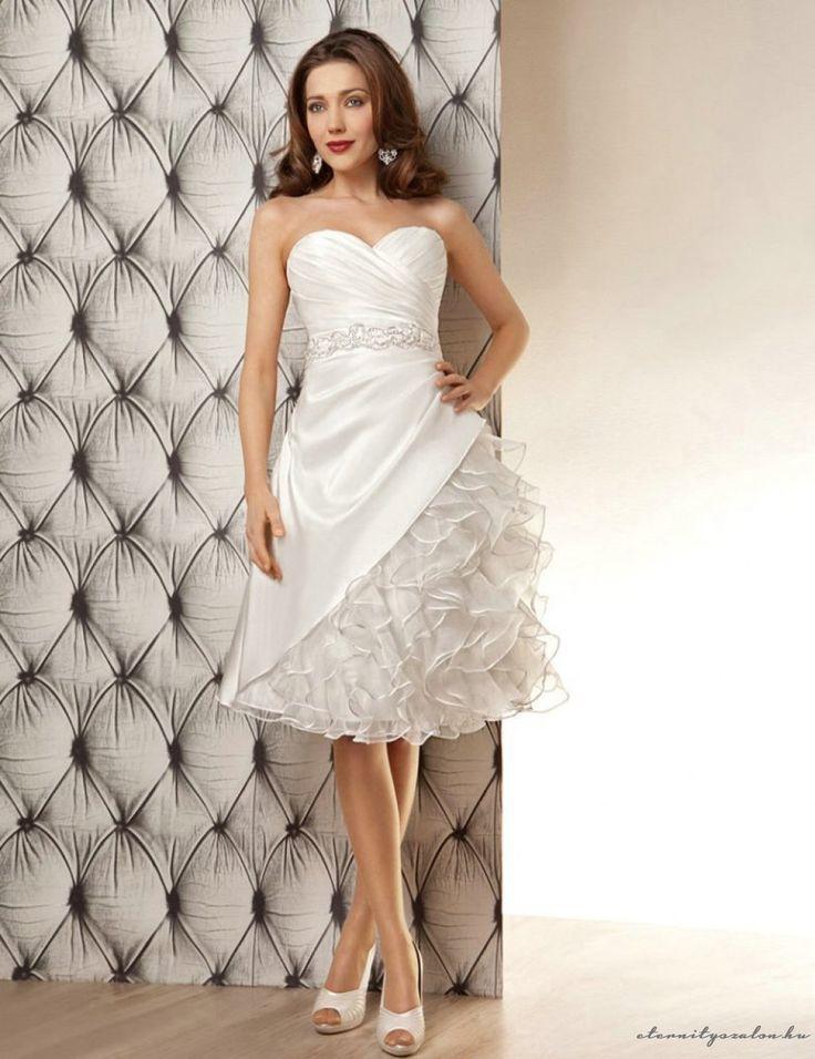 Britt Short rövid esküvői ruha