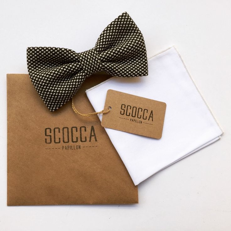 Gift idea for gentleman  Vintage Bow tie & Pocket square  Made in Italy