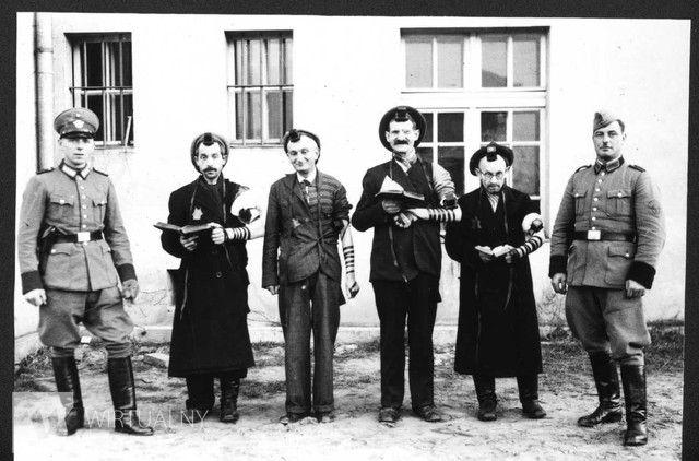 Humiliation of Jews in Praszka - 1940