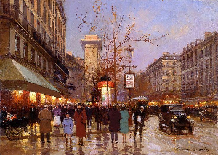 Edouard-Leon Cortes (1882-1969) Porte St. Denis (1925)