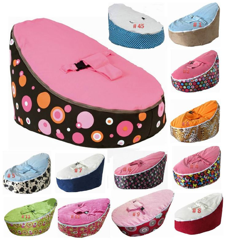 Baby bean bag chair Kid's bed Baby bouncer Nursery beanbag TWO COVERS
