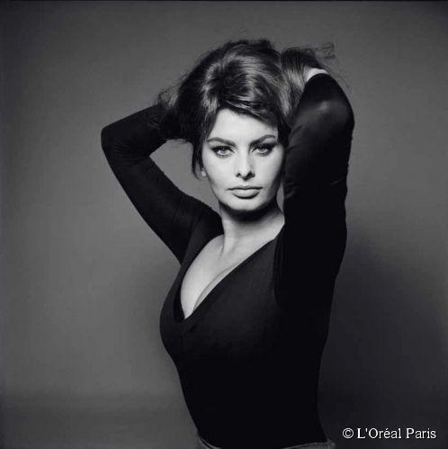 L'actrice italienne Sophia Loren.