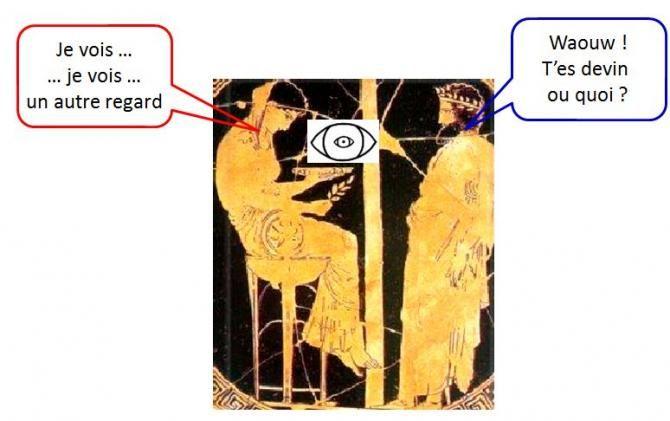 l'oracle de delphes prédit l'avenir. La Pythie de Delphes était le nom donné à une prêtresse, la plus célèbre, dans l'histoire du temple d'Apollon à Delphes.