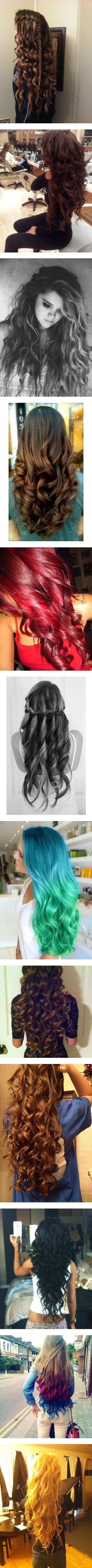 """Curly/Wavy Hair that I love 3"" by amyfashion on Polyvore"