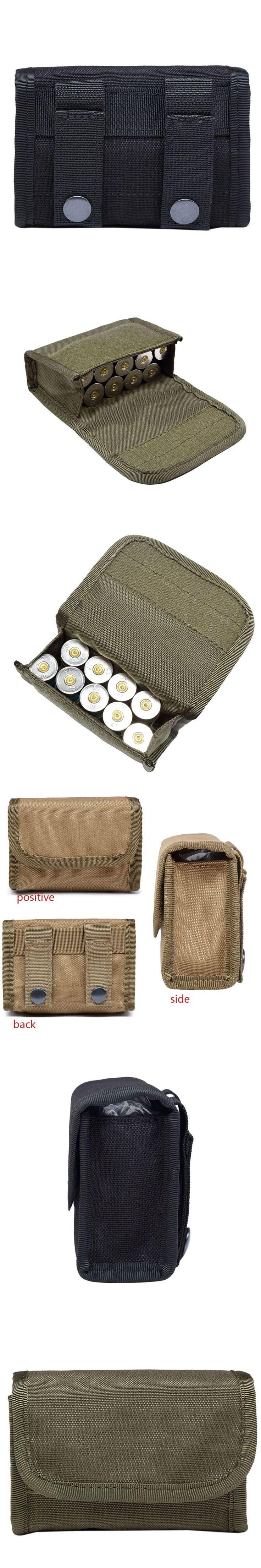 Tactical 10 Round Shotgun Shotshell Reload Holder Molle Pouch for 12 Gauge/20G Magazine Pouch Ammo Round Cartridge Holder