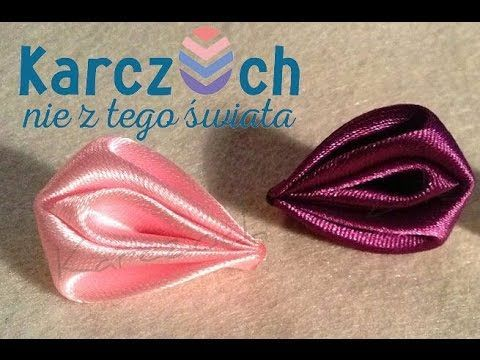 DIY Kanzashi ligas colettes para flores en cintas - Kanzashi flowers rubber bands in ribbons - YouTube