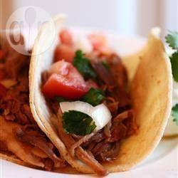 Photo de recette : Porc aigre-doux pour burritos, à la mijoteuse