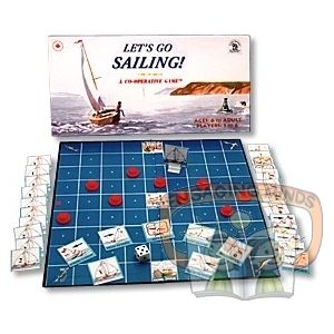 Sailing is a challenge, demanding the best effort from everyone on the crew. Each of us has a supply of Action Cards that we share with each other. We use them to advance the boat, negotiate Strong Currents and High Winds, while trying to avoid Rocks and Reefs. In each game, the location of the Reefs is different. We must keep a Seadog's eye out for potential Breakdowns that could ground us. Save the Coast Guard cards in case we need to be rescued. Or else we could end up being adrift at…