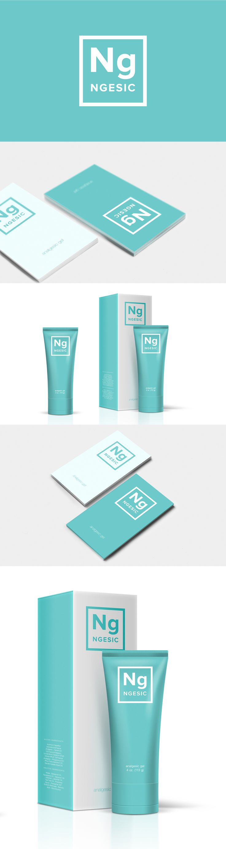 zhishi on Behance The logo design, identity and packaging design for new analgesic pharmaceutical product