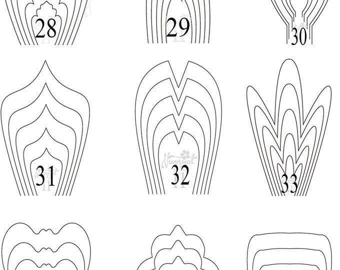 bundle 3-All 20 PDF /& SVG  Paper Flower Template giant paper flower paper flower pattern bundle template large paper flower paper flower kit