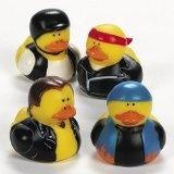 Dozen Biker Rubber Ducks