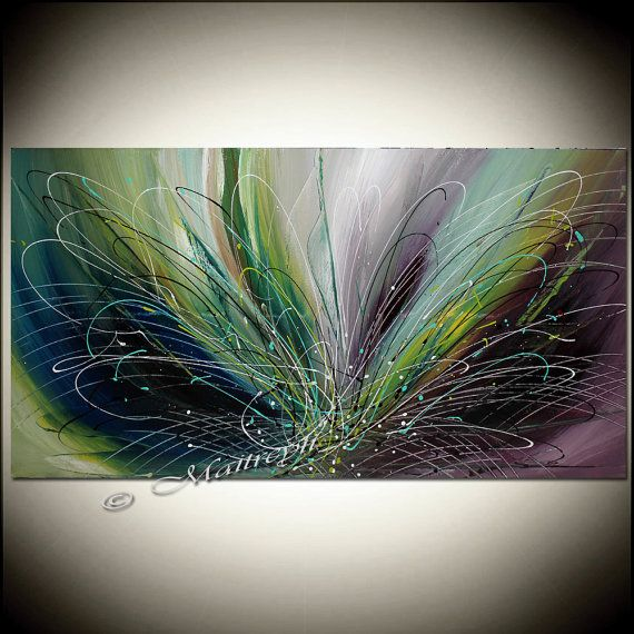 48 PAINTING Purple LARGE Artwork Abstract painting by largeartwork, $250.00