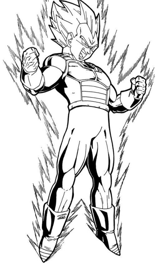 dbz printable coloring pages - photo#23
