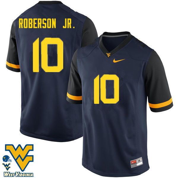 quality design 72f76 51290 Men #10 Reggie Roberson Jr. West Virginia Mountaineers ...