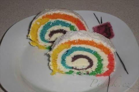 Obrázek z Recept - Rainbow kokosová roláda