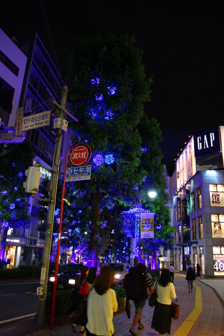 Illumination in summer ,Sibuya Tokyo Japan
