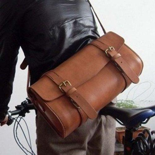 Custom Vintage style handmade custom motorcycle bag leather bag business bag leisure package bag box  men's messenger handbag on Etsy, $399.99