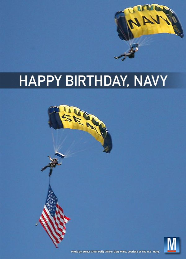 October 13th is the U.S. Navy's Birthday. Happy Birthday!