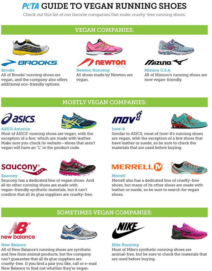 PETA's guide to vegan running shoes!
