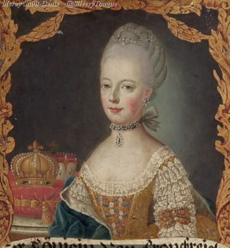 A portrait of Marie Antoinette, circa 1774, by a German artist. [credit: Christie's Auction/'Marie Antoinette Collection' Catalog].