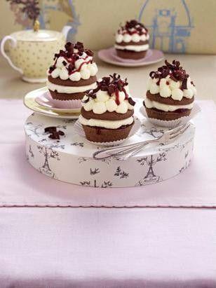 Mini Schwarzwälder Kirsch (oder Muffins Schwarzwälder Art) Rezept