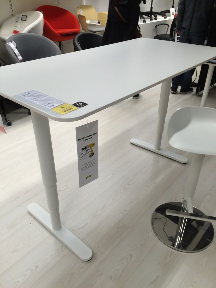 Zit sta bureau bekant 519 ikea 160x80cm shopping list for Ikea bekant coin bureau