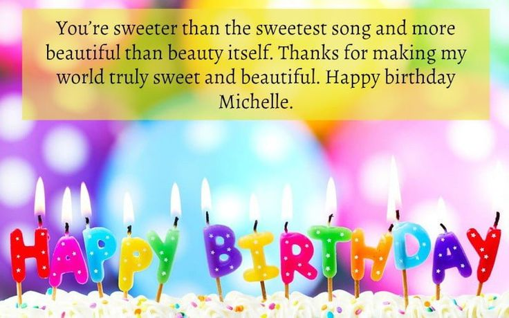 Happy Birthday Michelle Images, Quotes, Cake Design and
