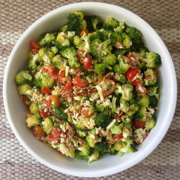 I originally was not going to post this recipe, I figured not too many peeps cared about broccoli salad but after posting a sneak pee...