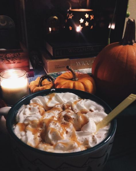 Add a nice, big dollop of whipped cream. It's chilly outside and you deserve it. | 23 Photos Of Autumn That Will Make You Breathe A Sigh Of Relief