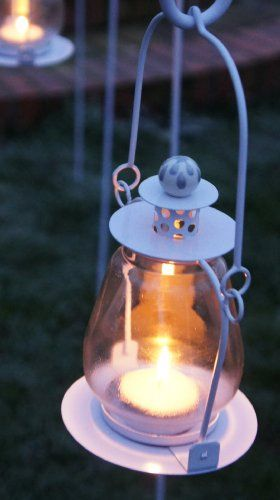 Hanging Tea Light Garden Lantern - A Great Variety of Colours Available! (White) Black Country Metal Works,http://www.amazon.co.uk/dp/B00BAUOK3W/ref=cm_sw_r_pi_dp_QcdGtb18NZF0NA5H