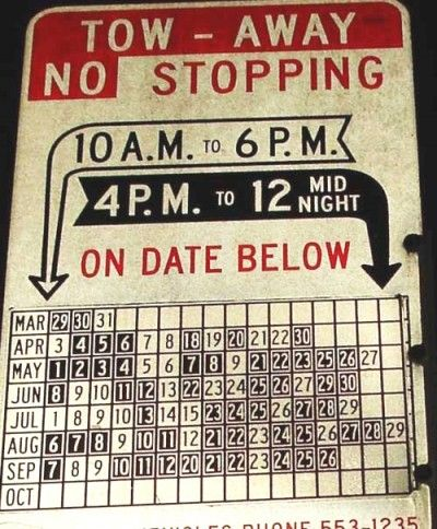 Tow-Away Zone / No Stopping / Random dates and times...OMG, confusing!!!