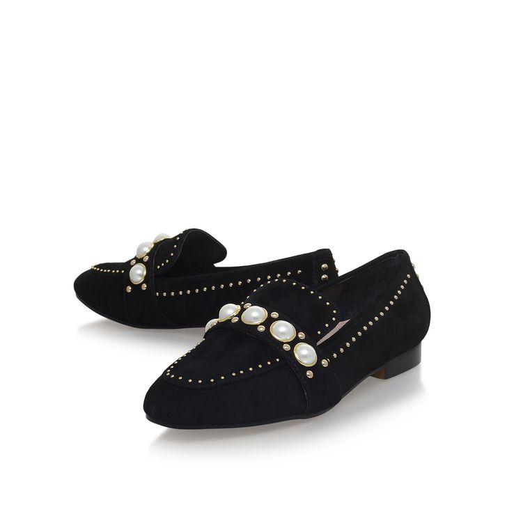 Leighton Black Flat Loafer Shoes By Carvela Kurt Geiger | Kurt Geiger