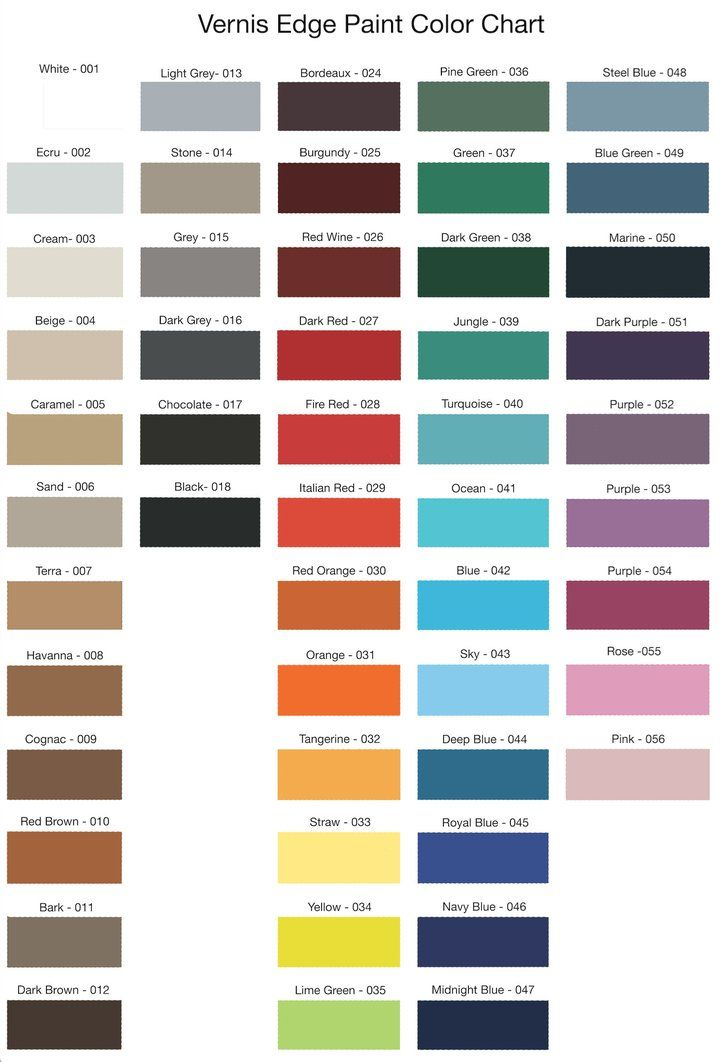 Vernis Heatable Edge Paint Made In France Painting Edges Color Mixing Chart Paint Color Chart