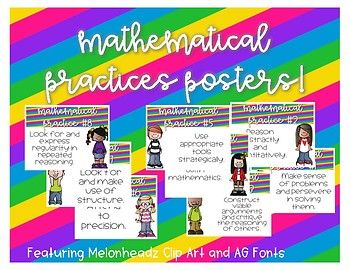 These posters a perfect to display when using the various mathematical practices we use when teaching a variety of math topics.