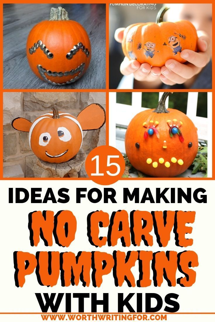 Fun Easy No Carve Pumpkins To Make With Your Kids Pumpkin