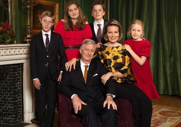 Christmas Greeting Of Belgian Royal Family And A Photo Belgian