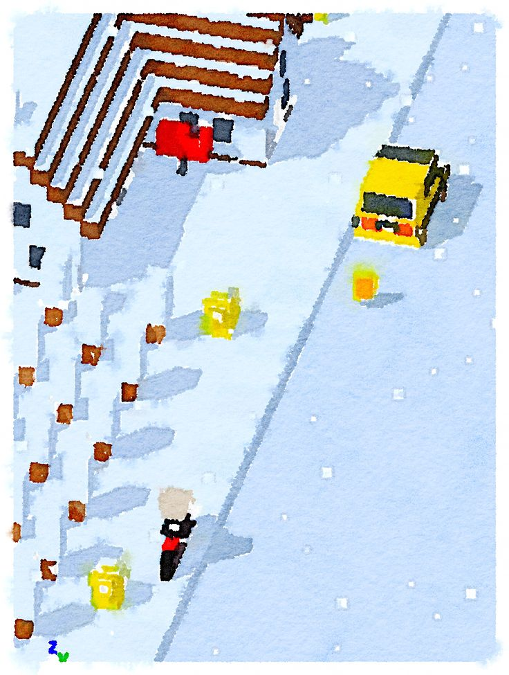 """Concept art for """"Delivery Road"""" mobile game! #mobilegames #indiedev #indiegame #ios #androiddev #Android #unity #gamedevelopment #conceptart #pixelart #voxelart #watercolor #deliveryroad"""