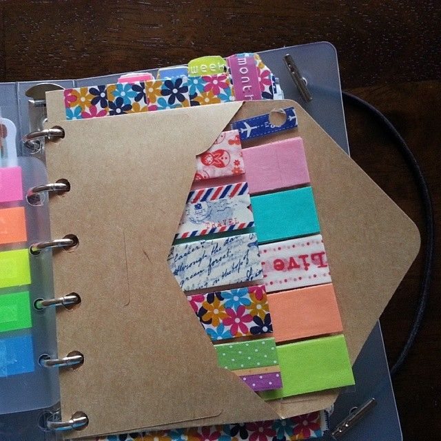 #ShareIG Just an ordinary paper envelope where I put my washi tape samples. Actually, I made a mistake in punching the card so instead of re-wrapping the samples on another transparent leaf, I just placed them inside the envelope ♥ #filofax inspired planner