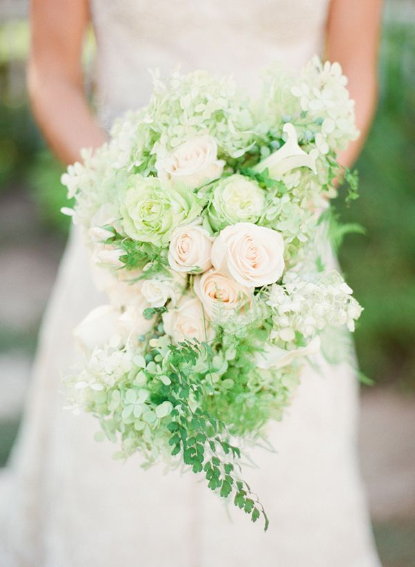 spring rose bouquet | http://www.lindsaymaddenphotography.com/Bedel Cellars, White Cascading, Traditional Weddings, Bridal Bouquets, Lindsay Madden, Green Bouquets, Wedding Bouquets, Bouquets Shape, White Bouquets