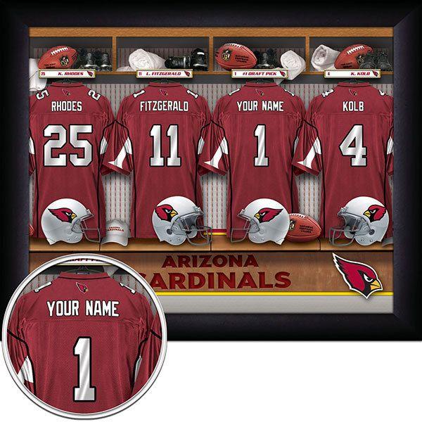 Man Cave Locker Room : Arizona cardinals nfl football personalized locker room