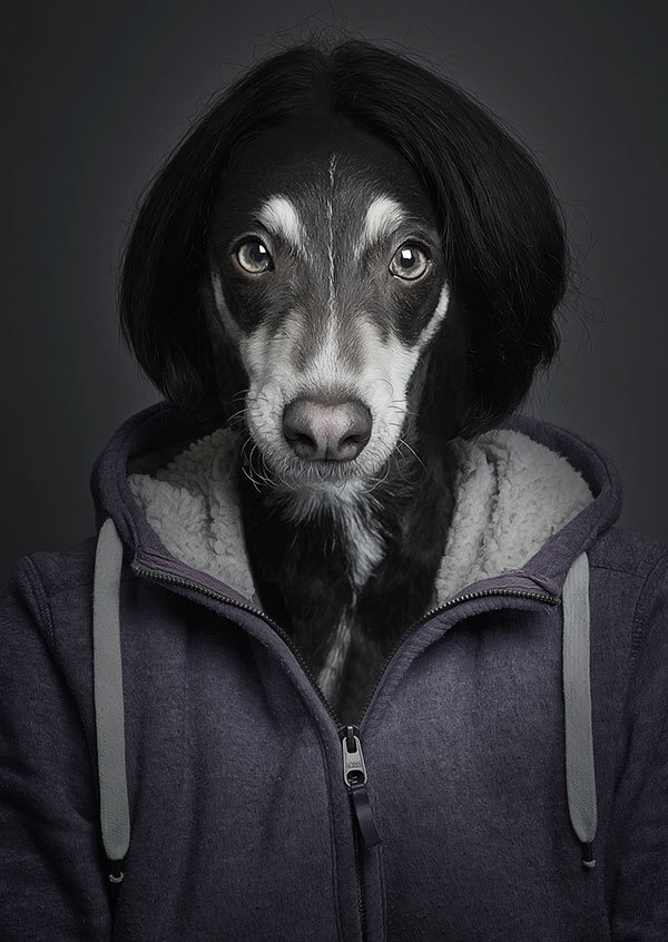 Sebastian Magnani Creates Striking Human-Dog Portraits