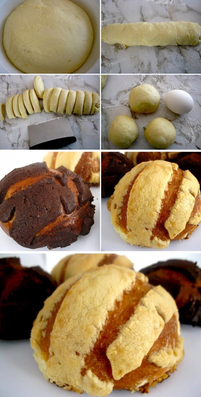 Conchas (Mexican Muffins): I remember eating these with my grandmother.