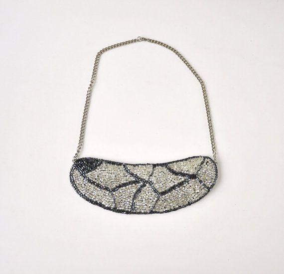 glass beads beadwork necklace