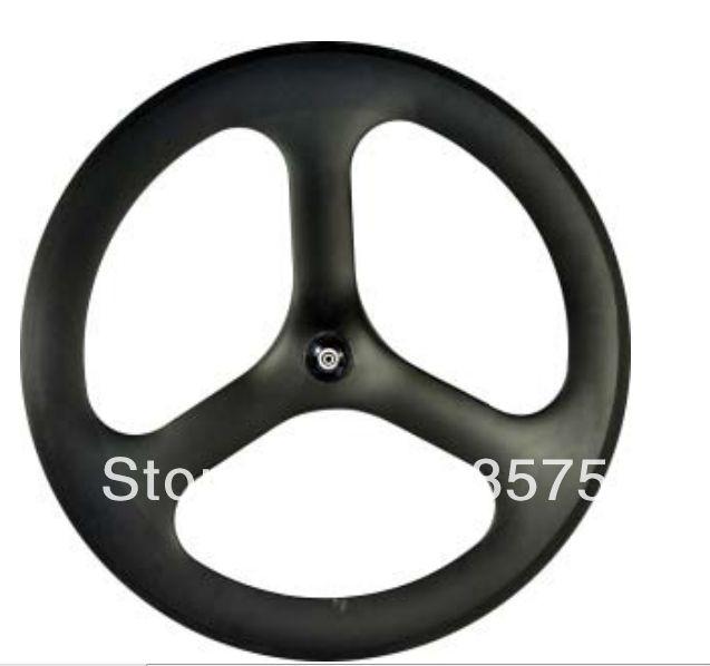 3 spoke wheel full carbon fiber with novatec hub clincher type 700C 20.5mm width