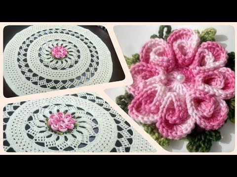 8a2a805837 Flor Eliete para o TAPETE   Toalha de mesa Dani Paz ( Parte 1 3 ) - YouTube