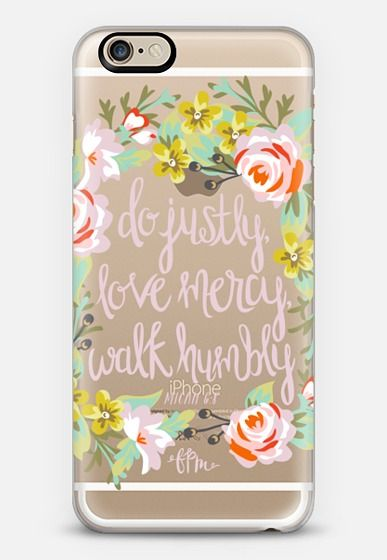 Micah 6:8 - Floral iPhone 6s case by French Press Mornings | Casetify