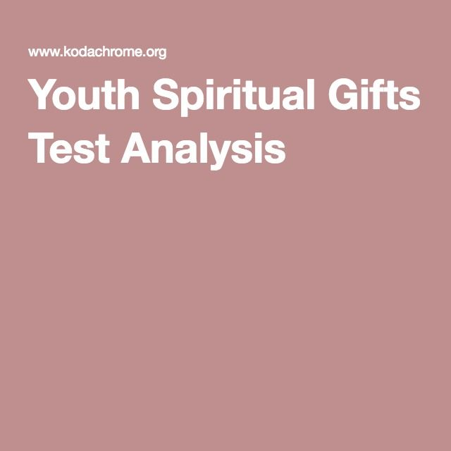 Youth Spiritual Gifts Test Analysis