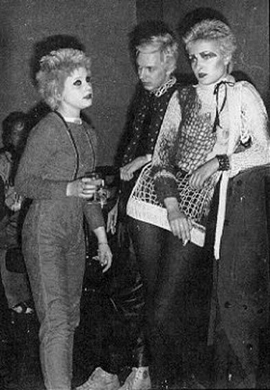 Debbie Juvenile, Steve Severin and Siouxsie Sioux 1976